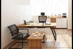 שולחן עבודה  Flat  כולל הרחבה 180 ס``מ צבע ספיר