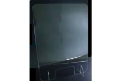 מחיצת פרספקס לשולחן עובי 4 מ``מ גובה 85 ס``מ