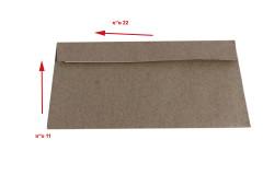 מעטפות קרפט ממוחזר גודל 11X22