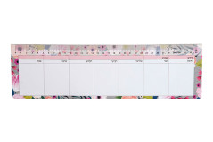 לוח תכנון שבועי למקלדת - דגם פרחים 536167