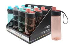 בקבוק שתיה פלסטיק טאץ -650 מ``ל
