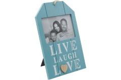 מסגרת עץ לתמונה בודדת LIVE LAUGH LOVE