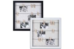 מסגרת לתמונות עם 9 אטבי עץ