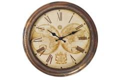שעון קיר מפת עולם עתיקה