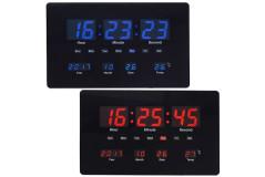 שעון קיר דיגיטלי עם תאריך וטמפרטורה