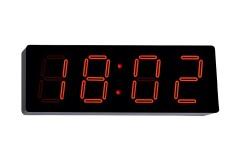 שעון קיר דיגיטלי ענק ספרות אדומות