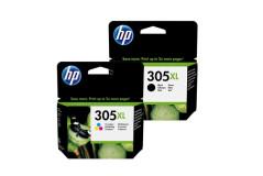 זוג ראשי דיו מקוריים (HP 305XL (3YM63A+3YM62A