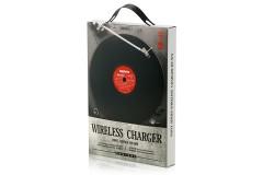 מטען אלחוטי מהיר בעיצוב תקליט ויניל 10W