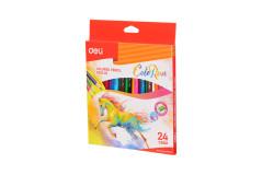 סט 24 עפרונות צבעוניים -DELI