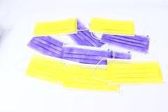10 נשמיות  סגולות וצהובות (מסכות) לפנים