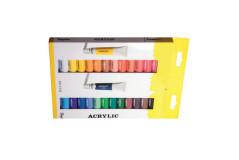 סט 24 צבעי אקריליק בשפופרת 12 מ``ל Rayher