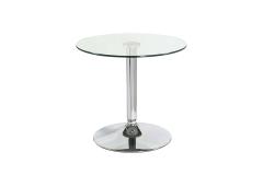 שולחן דגם קריסטל זכוכית מחוסמת קוטר 60 גובה 55 ס``מ
