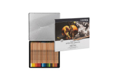 סט 24 עפרונות ליירה רמברנדט פוליקולור בקופסת פח