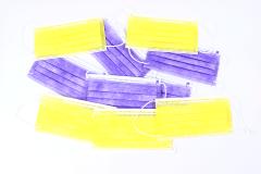 5 נשמיות  צבעוניות למיגון הפנים
