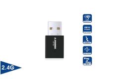 מתאם אלחוטי WIFI USB Mini Dongle Adapter