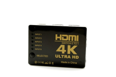 סוויטש HDMI  לחמש פורטים 4K HDMI Switch 1 To 5 Ports with RC -