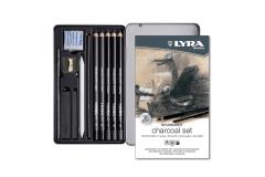 סט 11 עפרונות פחם ופחם Lyra Remrandt Charcoal