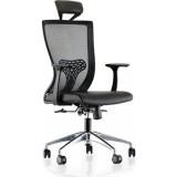 כסא ארגונומי QUATRO 000CT  ידיות קבועות ומשענת ראש