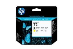 ראש הדפסה מקורי שחור מט וצהוב (HP C9384A (72