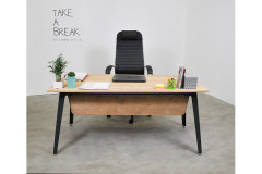 שולחן משרדי ללא שלוחה  רוחב 160 ס``מ LEMAS   צבע Safirmese