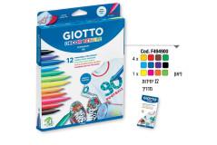 סט 12 טושים GIOTO טקסטיל 494900