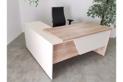 שולחן משרדי עם שלוחה  180 ס``מ EDUSSA צבע  safirmesse