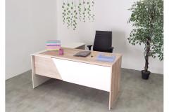שולחן משרדי עם שלוחה  160 ס``מ EDUSSA צבע  safirmesse