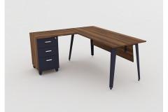 שולחן משרדי  BAROK רוחב 160 ס``מ LEMAS