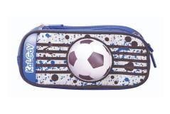 קלמר 2 תאים כדורגל כחול/לבן - מתרחב