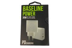 מטען ביתי 2 יציאות BASELINE BLP-PD36W