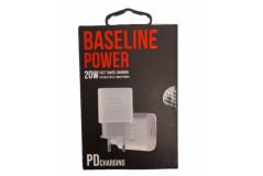 מטען ביתי ראש בלבד (TYPE-C) BASELINE PD 20W