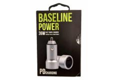מטען רכב 2 יציאות BASELINE BLP-PD36W