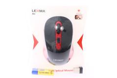 עכבר אופטי אלחוטי Lexma M2 6D Wireless - שחור/אדום