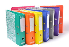 קלסר משרדי צבעוני - גב 8 WISE