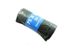 25 שקיות אשפה - אשפתון שחור - 85 * LD 75