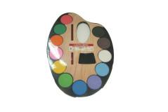 סט צבעי מים - איכותים על לוח 12 צבעים - לאונרדו
