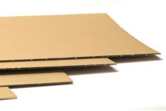 גיליונות קרטון חד גלי-גודל 35X50 ס``מ - רבע גיליון