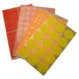 דפי מדבקות צבעוניות-קוטר 16 מ``מ
