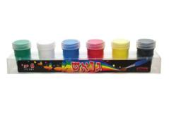 סט 6 צבעי גואש - פלדע