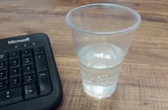 כוס פלסטיק 1/3 שתיה קרה - ברד (שרוול) 330 מ``ל - (40 יח`)