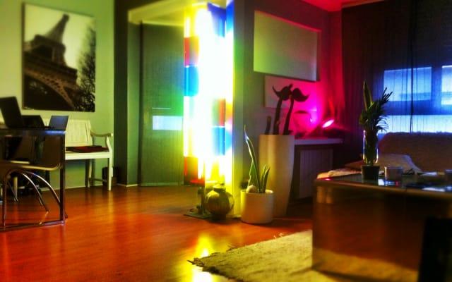 Acogedora habitación doble en piso de diseño