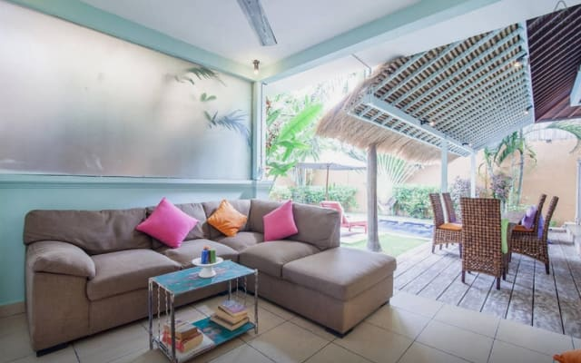 Funky private Seminyak villa with pool at quiet end of the gay bar...