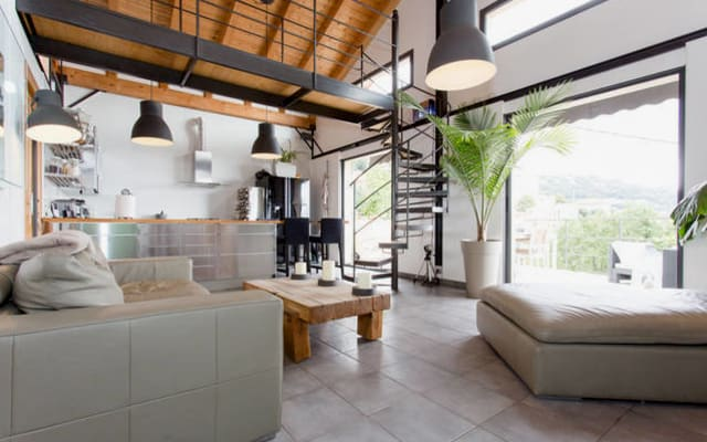 Chambre Dans Villa Moderne Avec Une Vue Imprenable