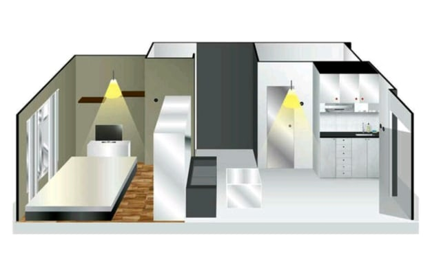 Cheap Cozy Minimalist Studio