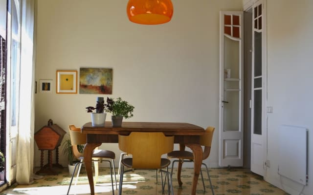 Gemütliches, sonniges Zimmer in der Nachbarschaft von Gracia