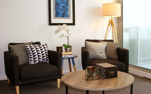 Modern contemporary apartment + Netflix