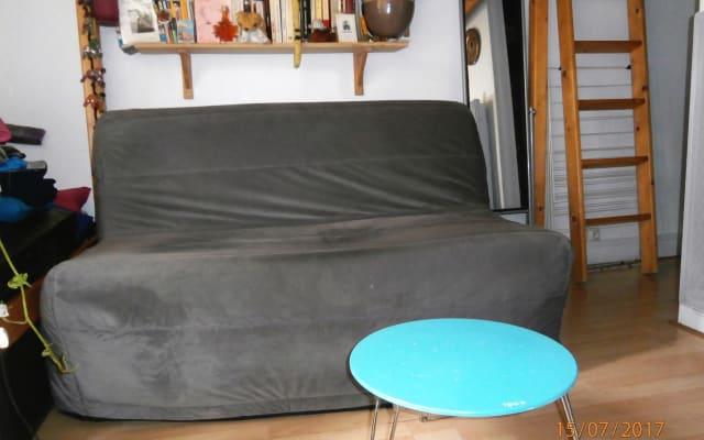 Sofa in a small studio