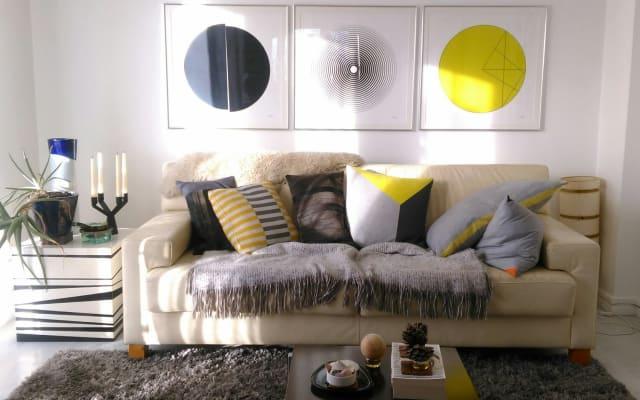 Chambre double confortable - situé au centre