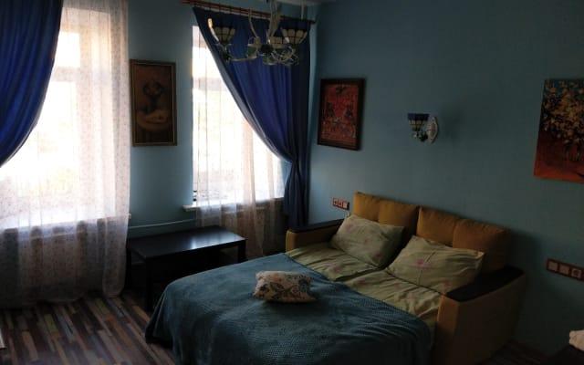 Chambre bleue au centre-ville de Saint-Pétersbourg