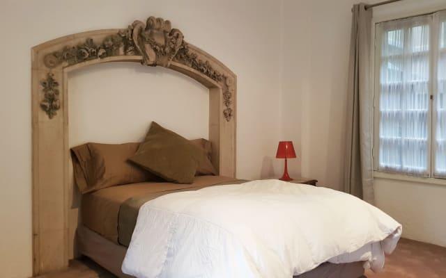 Maestosa camera da letto privata e soggiorno privato